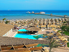 Amwaj Blue Beach Resort: teren hotelu